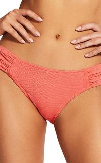 SEA FOLLY - RUCHED SIDE RETRO - ANTIQUE CORAL