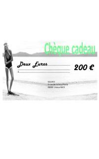 Chèque cadeaux de 200€