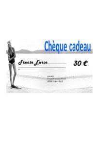 Chèque cadeaux de 30€